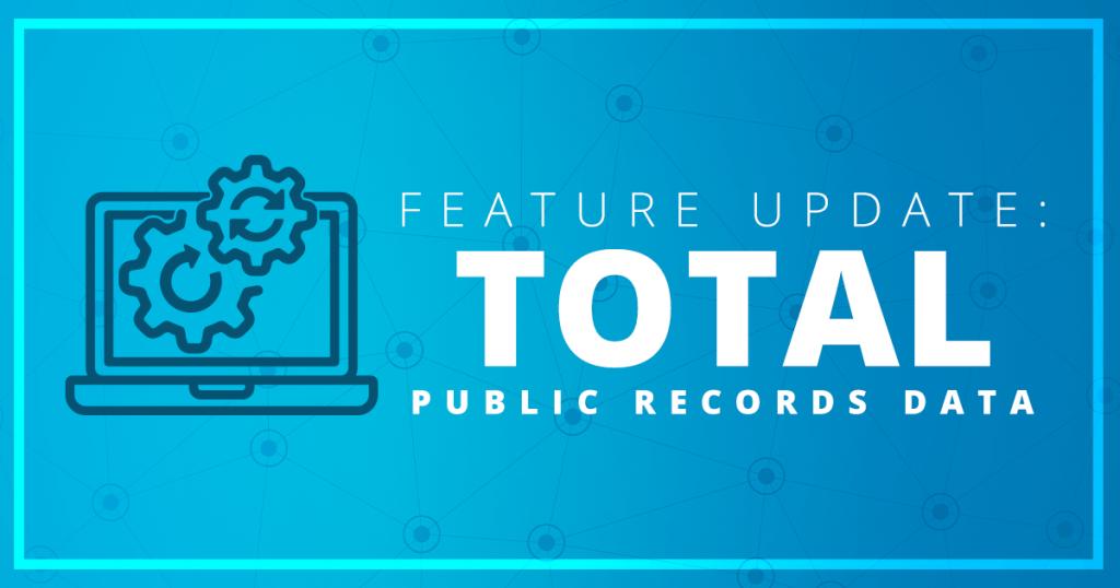 Public Records Data Feature Update